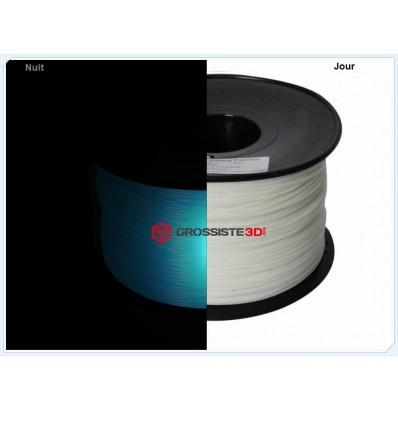 Filament 3D Phosphorescent Bleu PLA 3.00mm