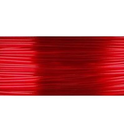 Filament 3D PLA Translucide Rouge métre
