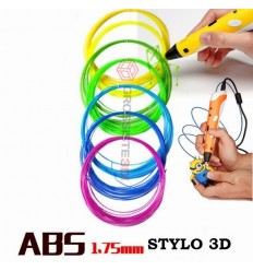PACK 7 X 5 M RECHARGE STYLO 3D ABS 1.75 MM