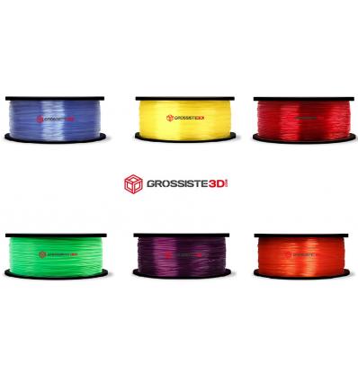 Pack 6 bobines PLA Translucide 1.75mm