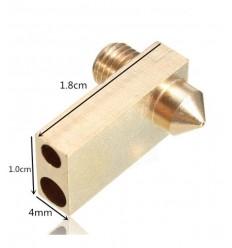Ultimaker 2 UM2 Buse + Heaterblock 0.4mm Pour 1.75mm