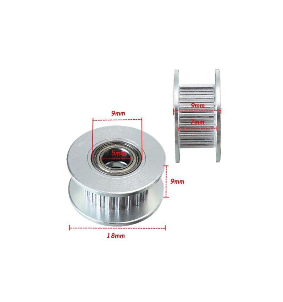 gt2 poulie 20 dents axe 5mm pour courroie 6mm. Black Bedroom Furniture Sets. Home Design Ideas