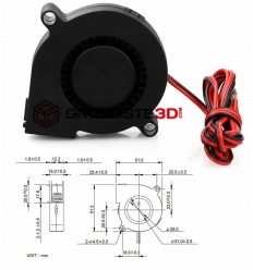 Ventilateur turbo ultra silencieux 24 v  50mm Universel