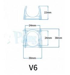 Coque en plastique V6 support étui 30 * 10 ventilateur refroidissement