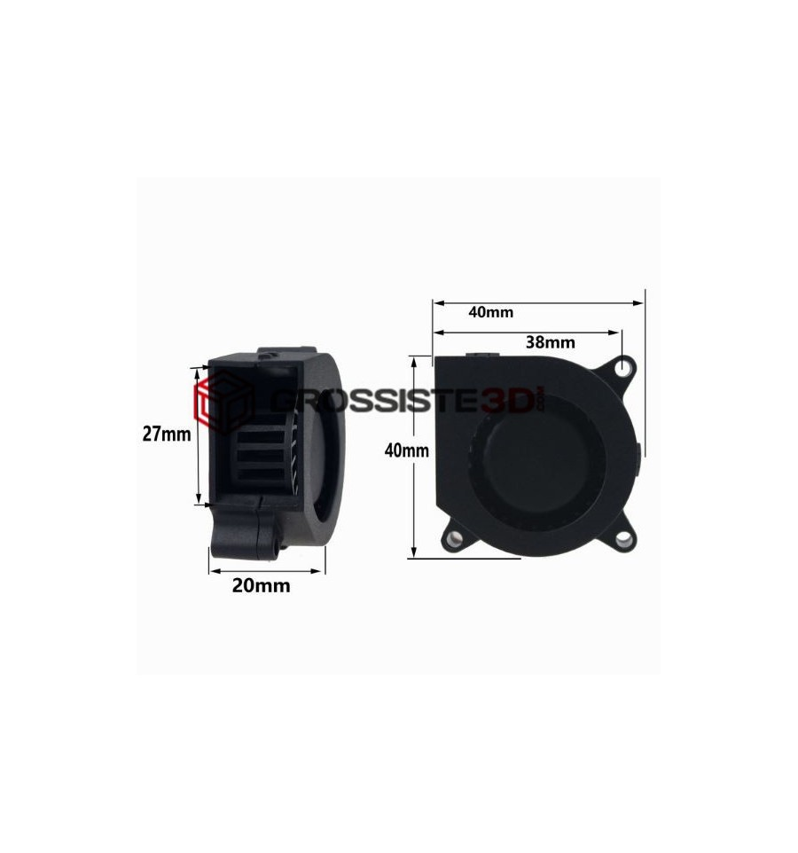 Ventilateur turbo 40mm 24v ultra silencieux Universel