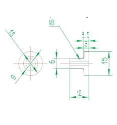 écrous de réglage plateau Ultimaker 2 UM2/UM2+
