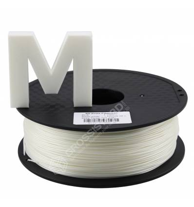 Fil 3D PLA 2 Kg 1.75 mm Perle Blanc
