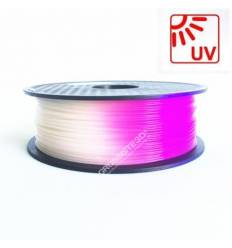 Filament 3D PLA Photosensible Blanc au Violet 1.75mm