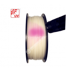 Filament 3D PLA Photosensible Blanc au Rose 1.75mm