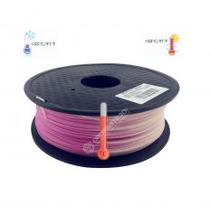 Filament 3D PLA Thermosensible Rose-Blanc 1.75mm