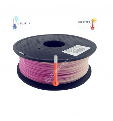 Filament 3D PLA Thermosensible Rose-Blanc 1.75mm