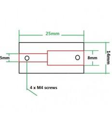 Coupleur aluminium 5x8mm imprimante 3D