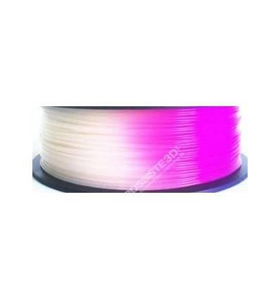 Filament 3D PLA Photosensible Blanc au Violet 1.75 mm par 10 mètres