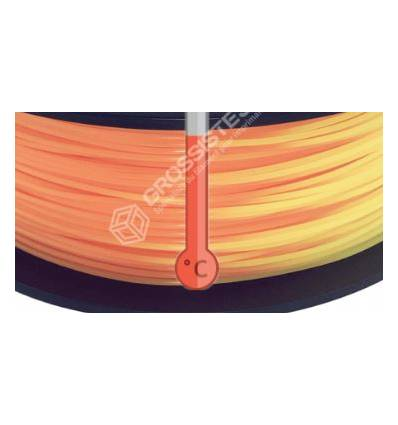 Filament 3D PLA Thermosensible Orange - Jaune 1.75 mm par 10 mètres