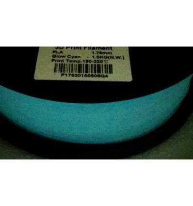 Filament PLA Phosphorescent 1.75 mm Cyan par 10 mètres