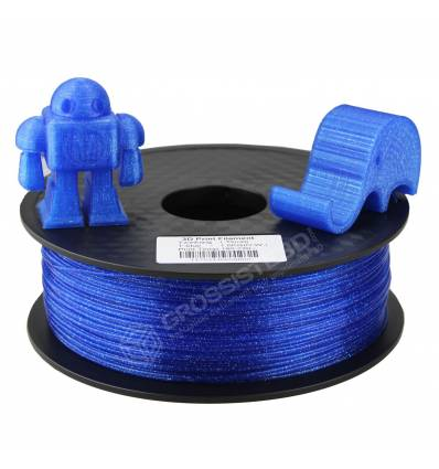 Filament 3D paillette Bleu PLA 1.75 mm