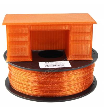 Filament 3D paillette rouge or  PLA 1.75 mm