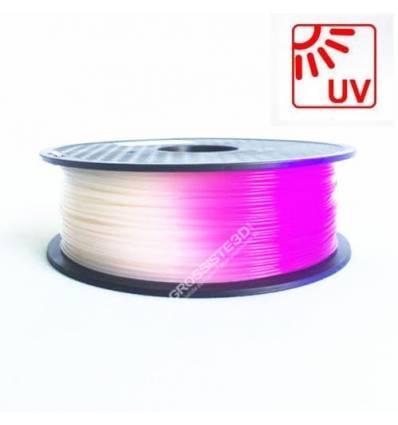 Filament 3D PLA Photosensible 500g Blanc au Violet 1.75mm