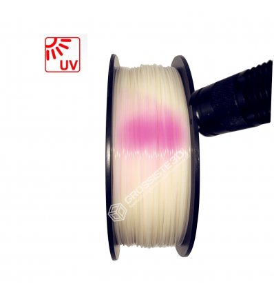 Filament 3D PLA Photosensible 500g Blanc au Rose 1.75mm