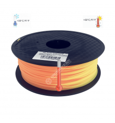 Filament 3D PLA Thermosensible 500g jaune - Orange 1.75mm