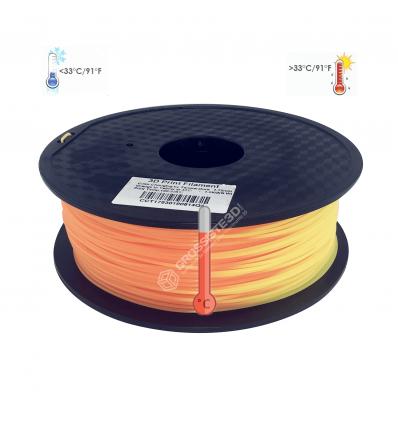 Filament 3D PLA Thermosensible 500g jaune - Orange 1.75mm