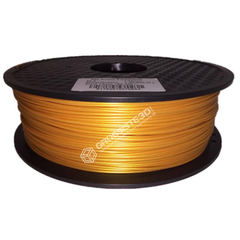 Filament 3D PLA Métallisé Or 1.75mm 1 kg