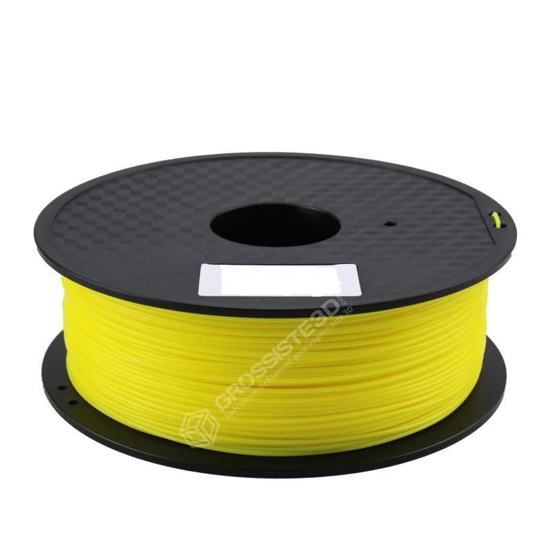FIL 3D PLA Flexible soft 1 KG 1.75 mm Jaune