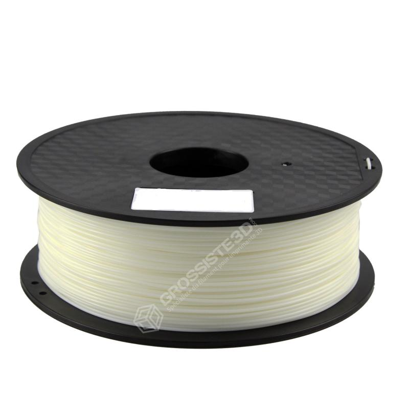 FIL 3D PLA Flexible soft 500G 1.75 mm Blanc