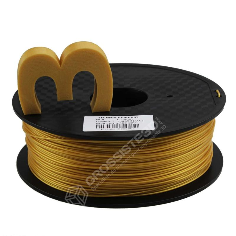 Fil 3D 1 Kg PLA 3.00 mm Or