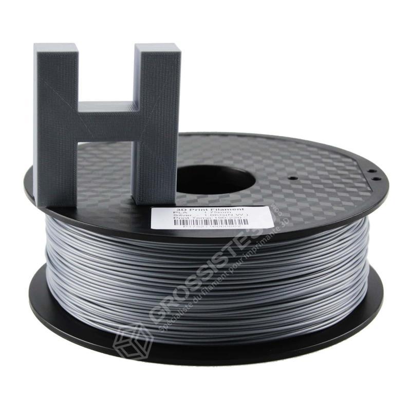Fil 3D 1 Kg PLA 3.00 mm Argent