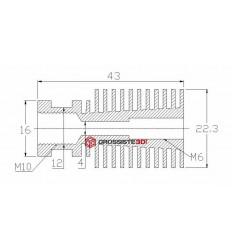 KIT EXTRUDEUR 0.4mm E3D V6 24V