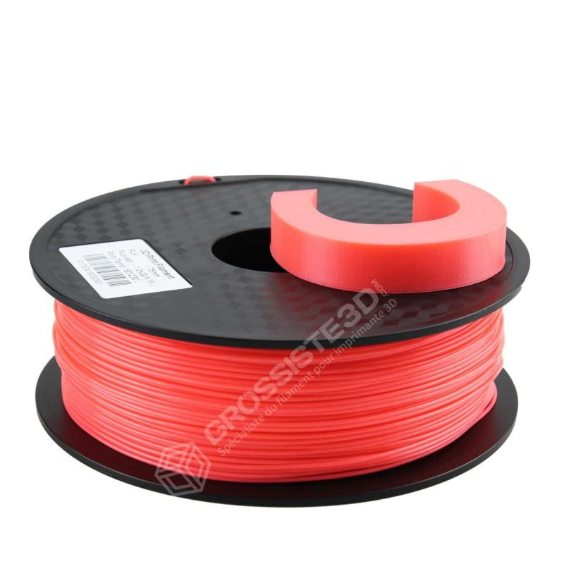 Filament 3D ABS Fluorescent 1.75 mm Rouge rose