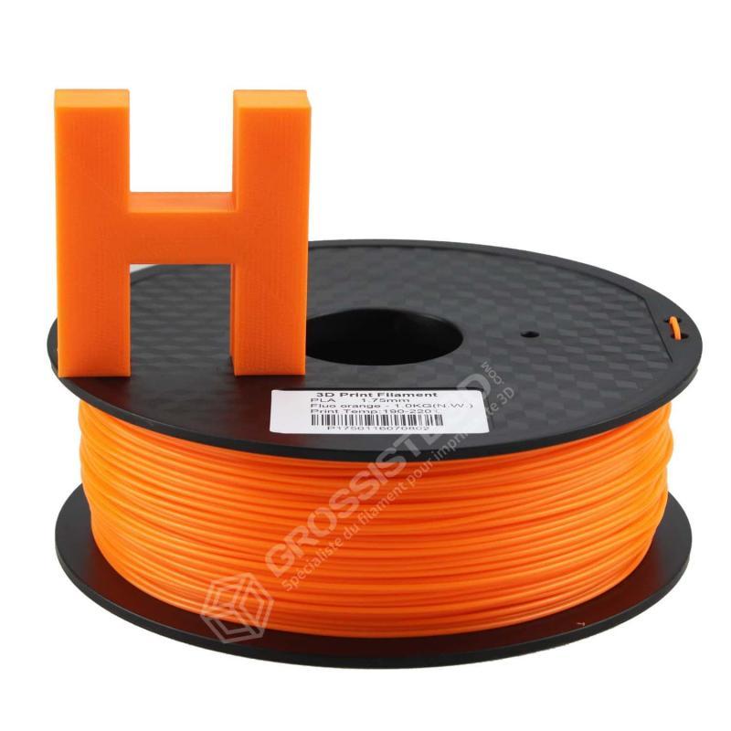 Filament 3D ABS Fluorescent 500g 1.75 mm Orange