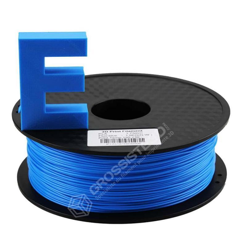 Filament 3D ABS Fluorescent 500g 1.75 mm Bleu