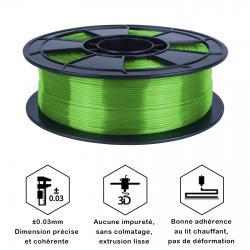 Filament 3D PLA Translucide 1 Kg Vert 1.75mm