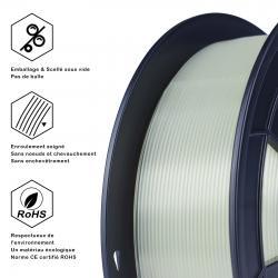 Fil 3D PLA 1 Kg 1.75 mm Transparent