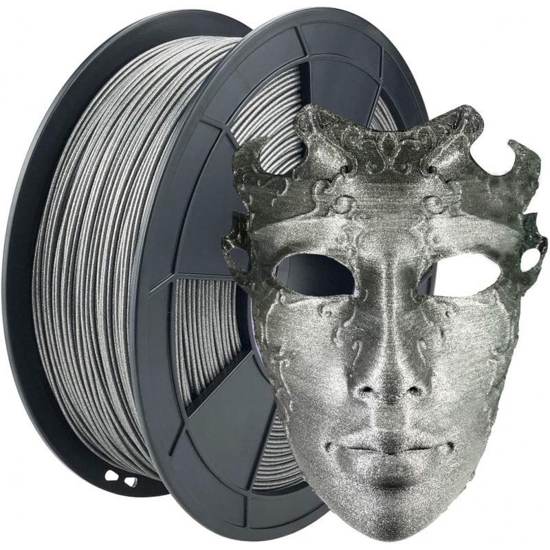 Filament 3D PLA Métallisé Argent 1.75mm 1 kg