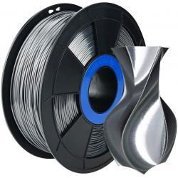Filament 3D Silk Glossy 500g Argent Noir 1.75 mm