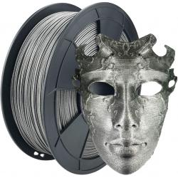 Filament 3D PLA Métallisé Argent 1.75mm 500g