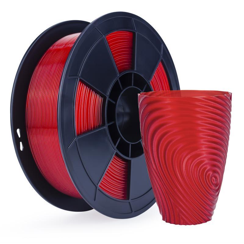 Filament 3D PLA Translucide 500g Rouge 1.75mm