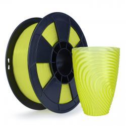 Filament 3D PLA Translucide 500g Jaune 1.75mm