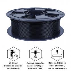 Fil 3D PLA 500g 1.75 mm Noir