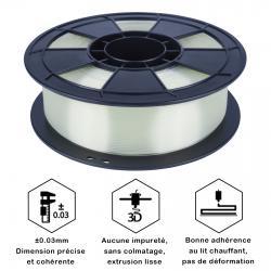 Fil 3D PLA 500g 1.75 mm Transparent