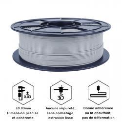 Fil 3D PLA 500g 1.75 mm Gris