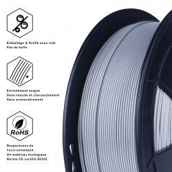 Fil 3D PLA 500g 1.75 mm Argent