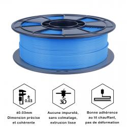 Filament 3D PLA Fluorescent 500g 1.75 mm Bleu