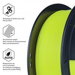 Filament 3D PLA Fluorescent 500g 1.75 mm Jaune