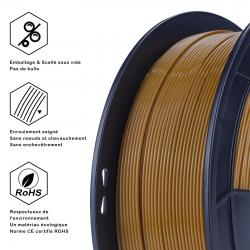 Fil 3D PLA 500g 1.75 mm marron