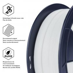 Fil 3D PLA 500g 1.75 mm Perle blanc