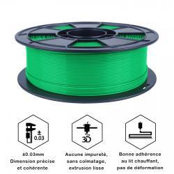Fil 3D PLA 2 Kg 1.75 mm Vert